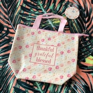 Handbags - THANKFUL Grateful Blessed Insulated Tote Bag NEW